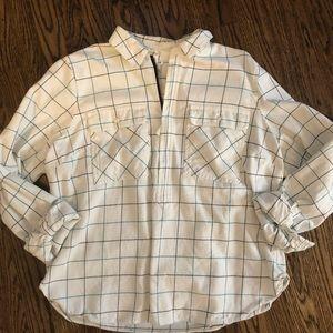 J. Crew half zip flannel pullover